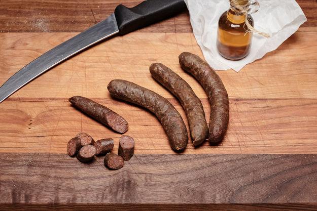 Image sur Saucissons de bison à l'érable-chipotlé