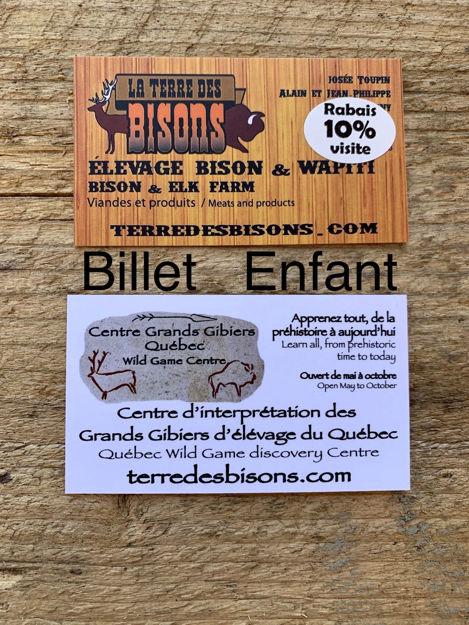Image sur Admission enfant : Centre d'interprétation des Grands Gibiers du Québec